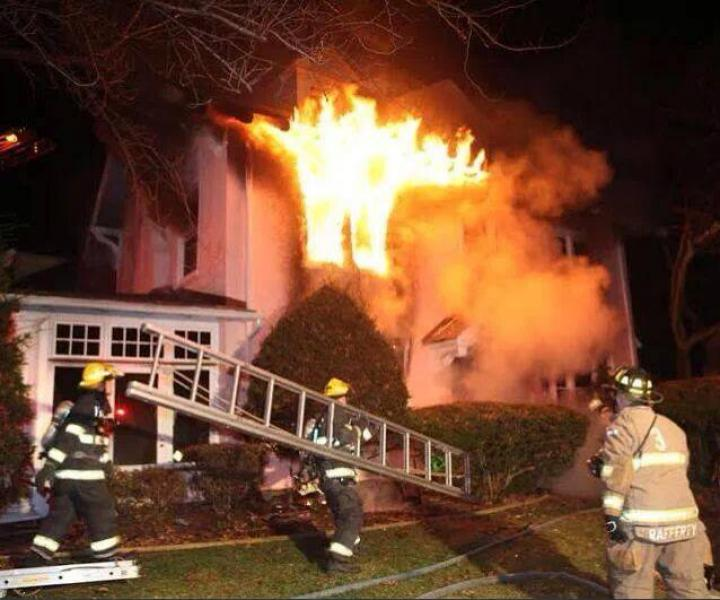 HEAVY FIRE WITH PEOPLE TRAPPED IN LANSDOWNE HOME