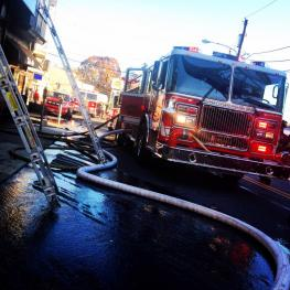 3RD WORKING FIRE IN LESS THAN 24 HOURS, THIS TIME IN THE FIRST DUE: 413 BURMONT RD. @ DEMARCO'S RESTAURANT AND BAR